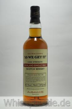 As We Get It Highland Cask Strength 64,0% vol. 0,7 l