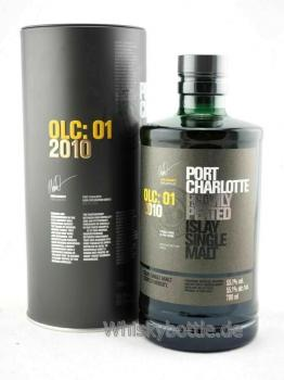 Port Charlotte OLC: 01 2010 Heavily Peated 9 Jahre  55,1% vol. 0,7l
