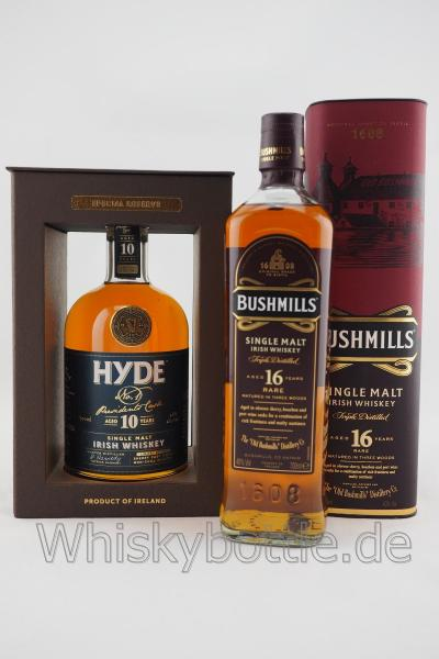 Bushmills 16 Jahre Three Wood  & Hyde No.1 Presidents Cask 10 Jahre Sherry Cask finish
