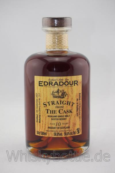 Edradour 2007/2017 Straight from the Cask Sherrybutt in Holzkiste 58,8% vol. 0,5l