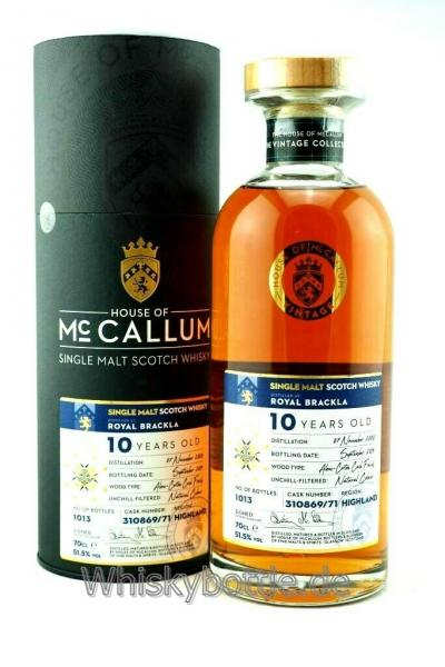 Royal Brackla 10 Jahre 2008-2019 Aloxe Corton Cask Finish HM 51,5% vol. 0,7l