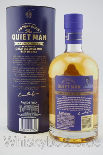 "The Quiet Man ""An Culchiste"" 12 Jahre Irish Single Malt 46,0% vol. 0,7l"