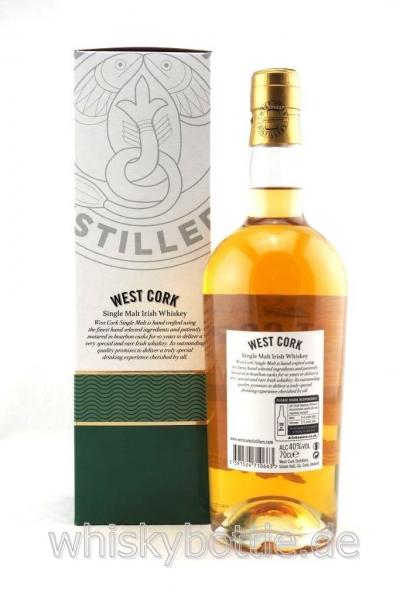 West Cork 10 Jahre Irish Single Malt  40,0% vol. 0,7l