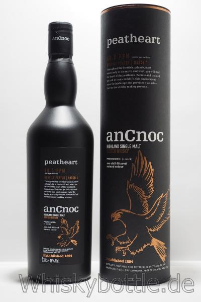 anCnoc Peatheart  46% vol. 0,7l  Heavily Peated  Batch 1